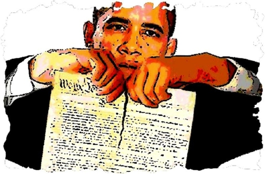 image of Obama - ripping