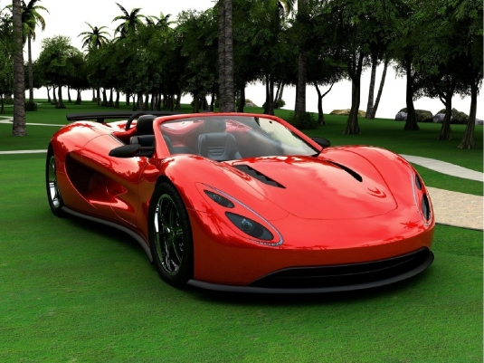 red sports car 1a