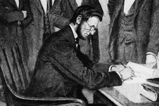 signing - Emancipation Proclama