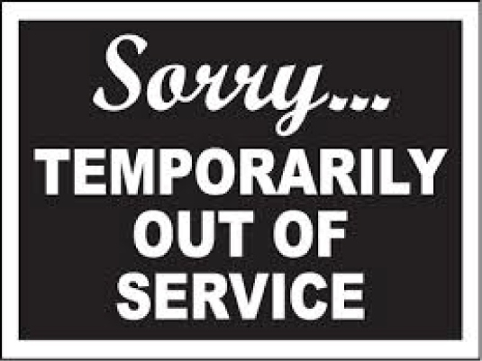 temporarily out of service 1