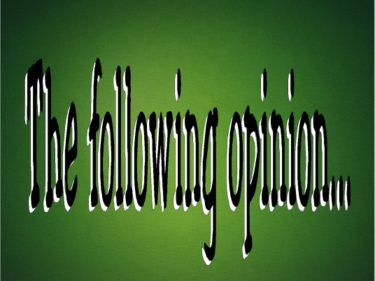 the following opinion - graphic