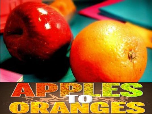 apples to oranges 1b