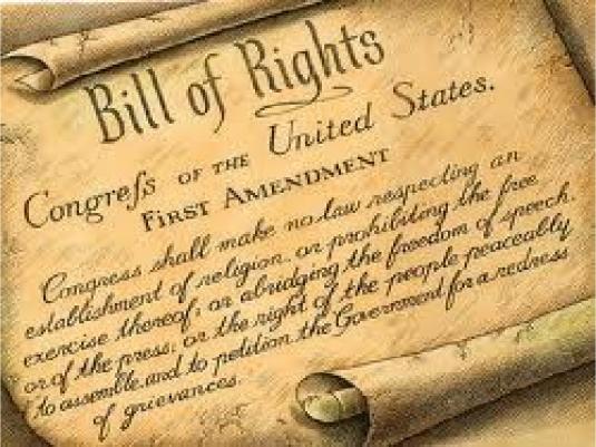 first amendment text - scroll