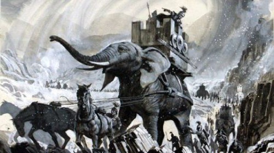 Hannibal crossing the Alps 1