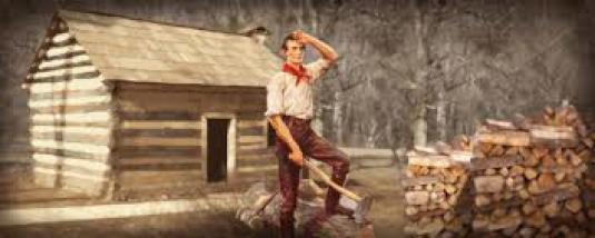 Lincoln chopping wood