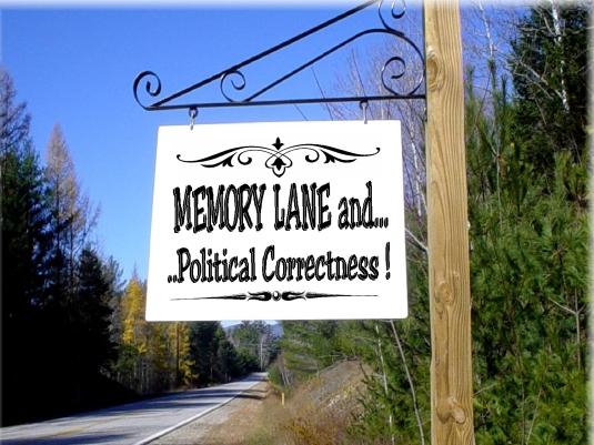 memory Lane - roadside sign 1