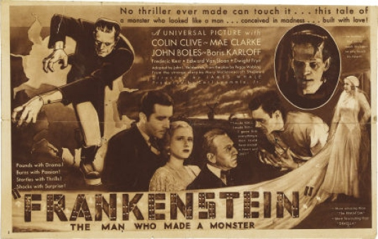 movie poster 1933 - Frankenstei