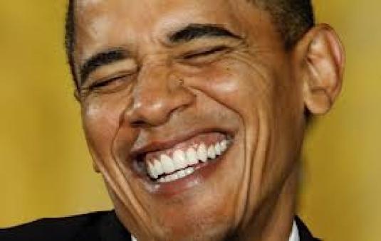 Obama grinning 1