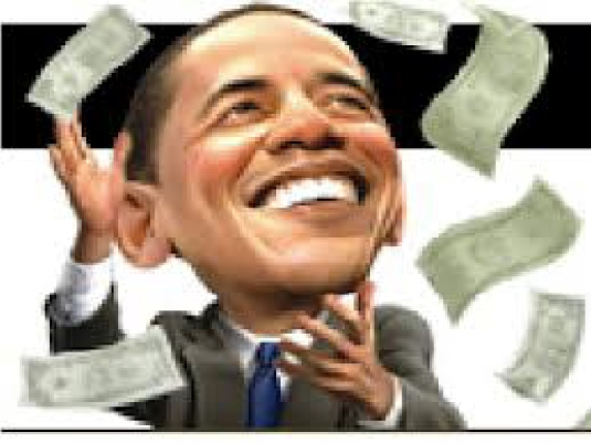 Obama throwing money 1
