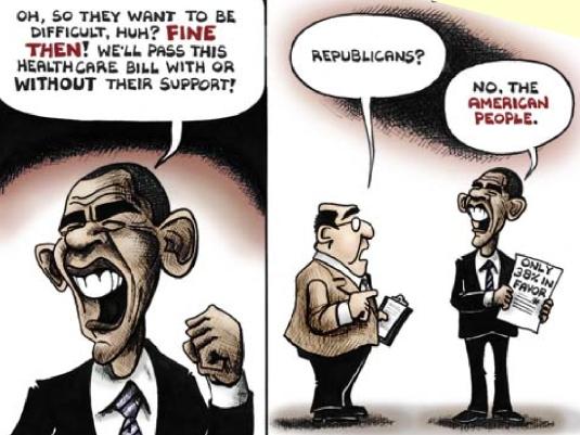 Obamacare - political cartoon 1a