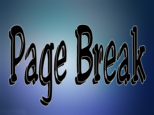 page break - blue and black