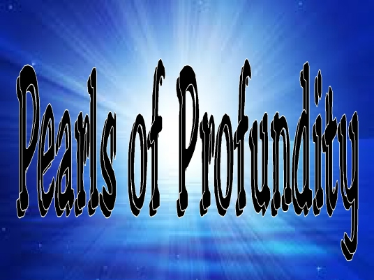 pearls of profundity - page bre