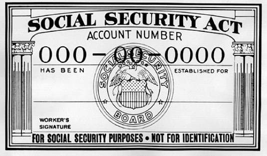 Social Security card - not for