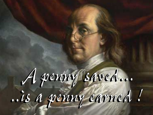 a penny saved - Ben Franklin 1a