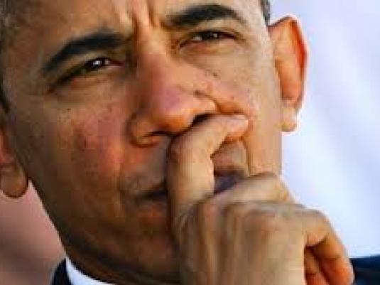 Barack Obama - pondering 1