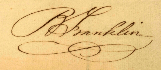 Ben Franklin's signature