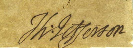 Jefferson's signature 1
