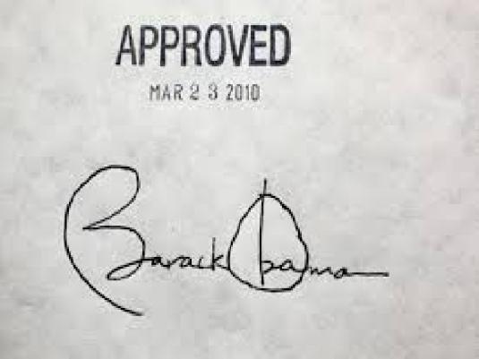 Obama - signature ACA