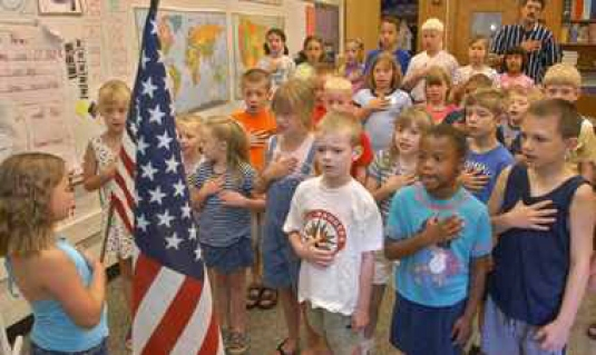 Pledge of Allegiance - school 1
