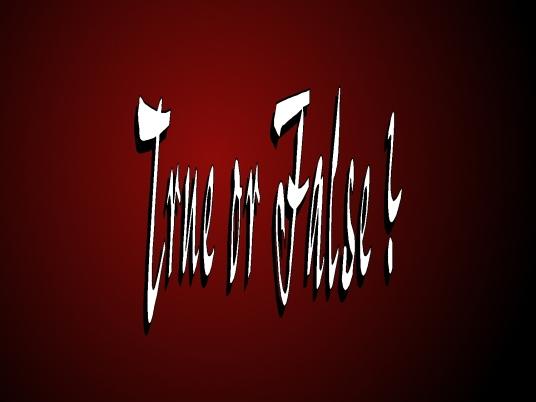 true or false - Red 1a
