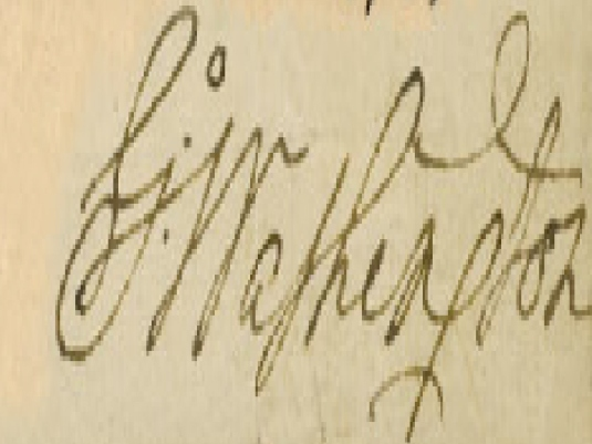 Washington's signature 2a