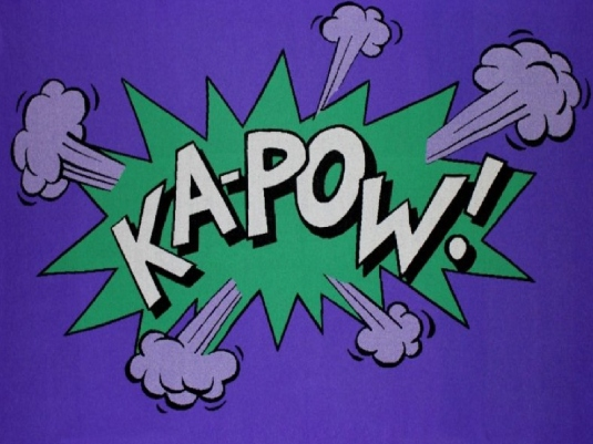 Kapow - Green and Purple