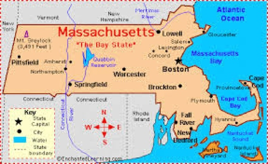 Massachusetts - map - graphic