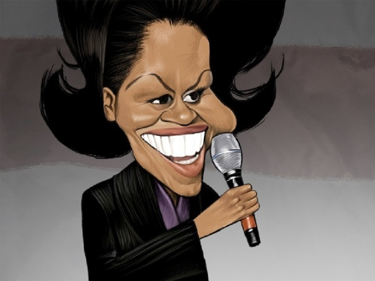 Michelle Obama - caricature 1