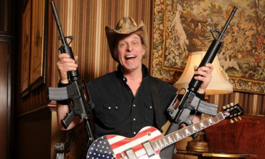 ted Nugent - guitar and rifles
