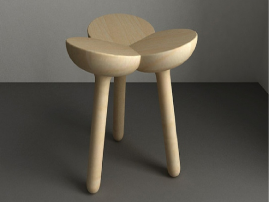 three leg stool 1a