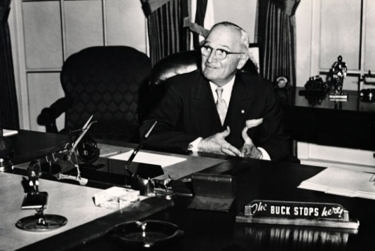 Truman - the buck stops here