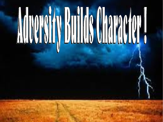 adversity builds character 1a
