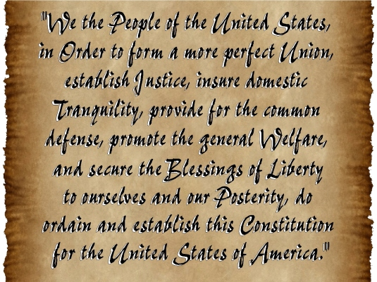 Constitution - preamble parchme