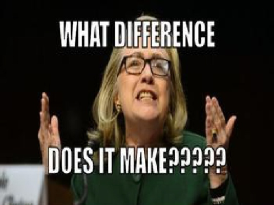 Hillary - what 1a  difference does