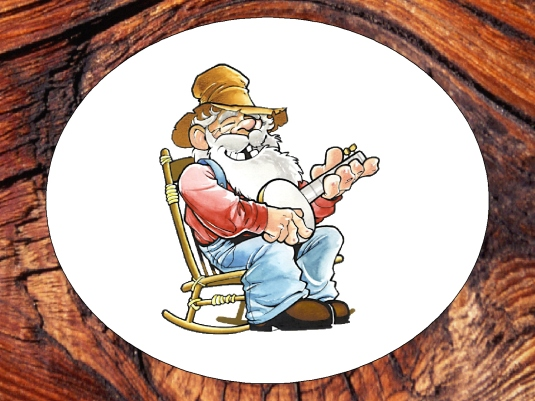 hillbilly in a knothole 1a
