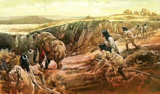 hunting mammoths