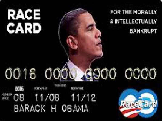 Obama - race card 1a