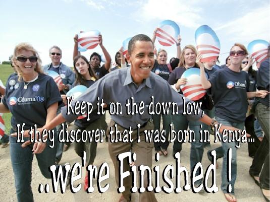 Obama - were finished