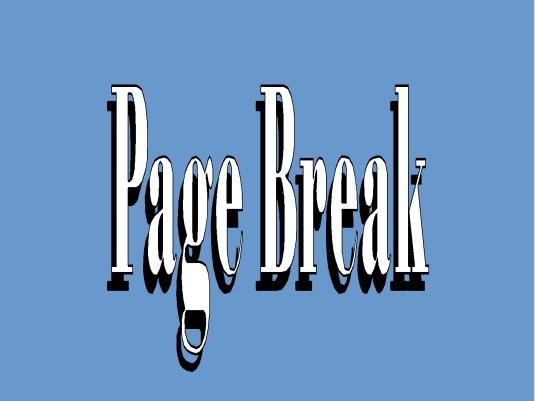 page break - blue