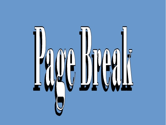 page break - blue
