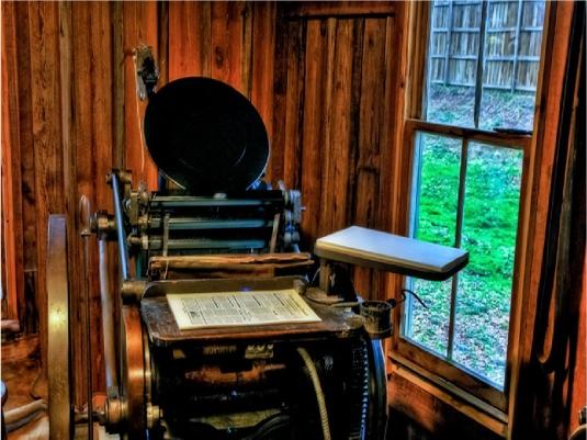 printing press - antique 1a