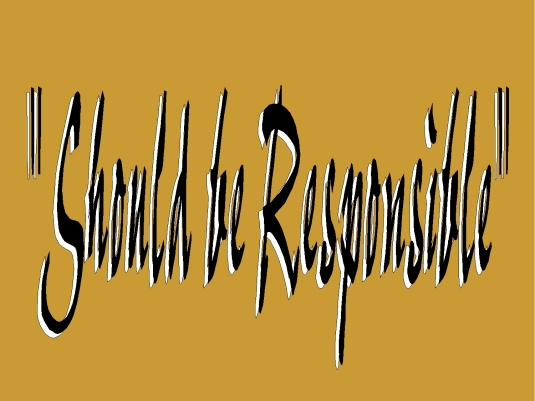 should be responsible - PB