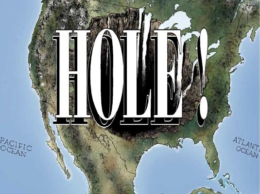 America as a HOLE