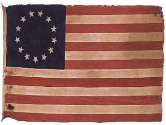 American flag - 13 stars