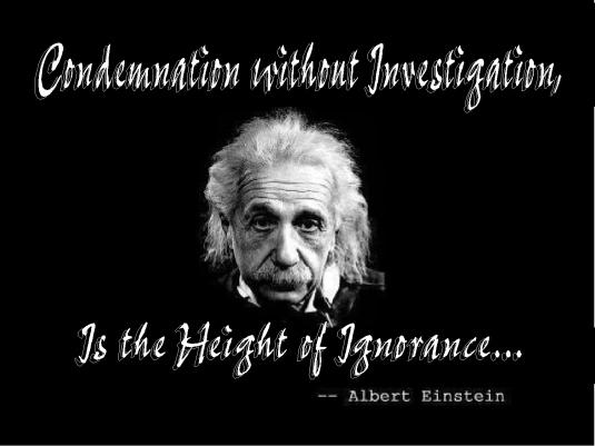 Einstein quote - ignorance