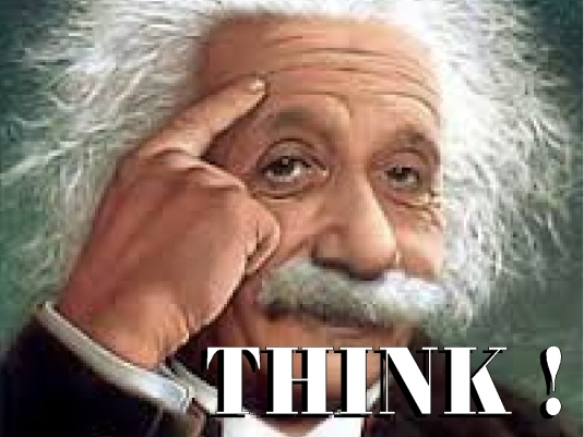 Einstein - think - white