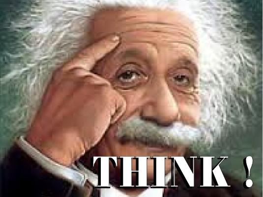 Einstein - think - white