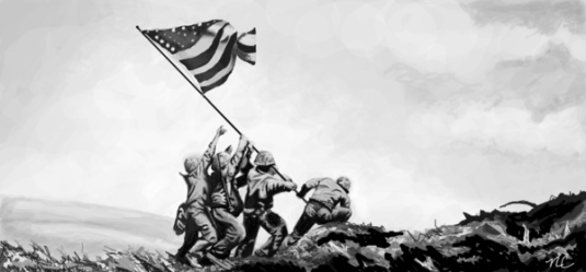flag raising - Iwo Jima