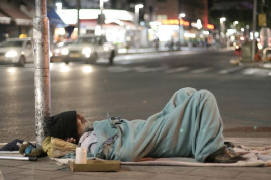 homeless on the street
