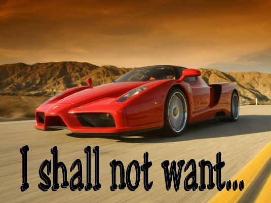 I shall not want - Enzo Ferrari
